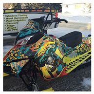 Custom sled wrap created by Proline Decals & Signs.