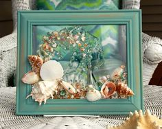 Beach Glass Art for Coastal Decor Beach by SeaSideCreations1