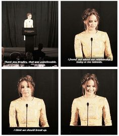 Jlaw -- the more I hear about her, the more I like her .. she's feisty, smart, sweet and awesome!