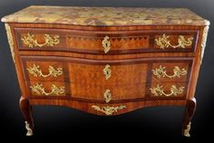 Fine 19th C. French Bronze Mounted Marble Top Commode : Lot 0033