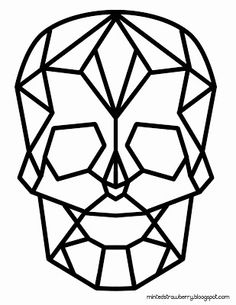 Freebie - Geometric Skull from Minted Strawberry. Great template for a cake design.