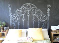 chalkboard headboard - Decoist