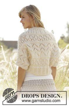 Midsummer knitted shrug, free pattern from Garnstudio