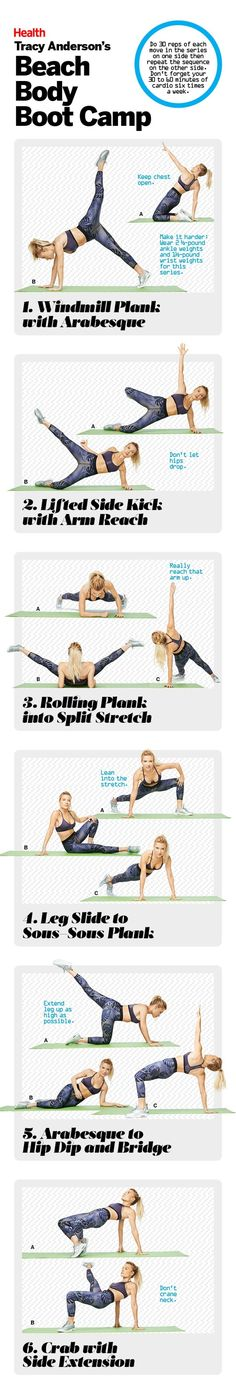 Shape up for summer with moves from Tracy Anderson's fun and fit Beach Body Boot Camp!   Health.com