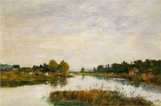 The Still River at Deauville - Eugene Boudin
