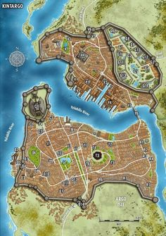 Temple/bridge expanded, wall extended along the river w/ lock system Fantasy City Map, Fantasy World Map, Fantasy Castle, Fantasy Places, Plan Ville, Pathfinder Maps, Imaginary Maps, Village Map, Rpg Map