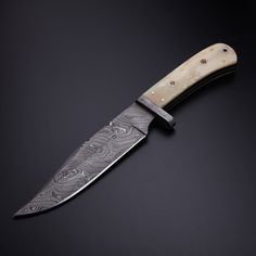 "Small Bowie Knife // 12"" // Bone"