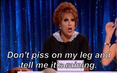 Except for Bianca's Judge Judy, that was the worst Snatch game.