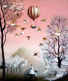 "Saatchi Art Artist Rie Kono; Painting, ""Look at the Mountain."" #art"