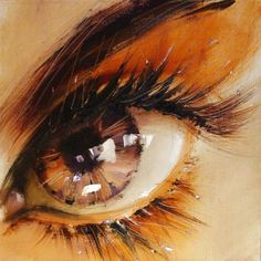 Ukrainian artist Pavel Guzenko manages to capture the glimmering gaze of the human eye with his impressionist technique.