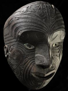 Object: Koruru (gable mask)   Collections Online - Museum of New Zealand Te Papa Tongarewa