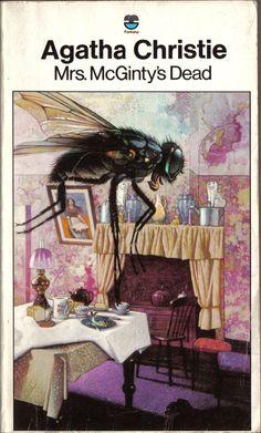 Mrd. McGinty's Dead by Agatha Christie - Tom Adams Fontana cover http://scottgronmark.blogspot.co.uk/2016/10/tom-adams-genius-who-illustrated.html