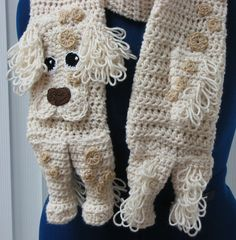 English Setter Scarf Crochet Pattern In USA Terms, PDF, Digital Download