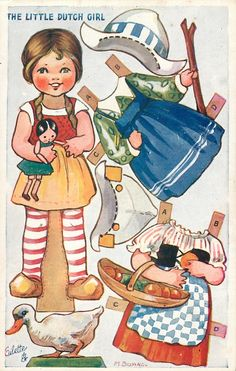 """The Little Dutch Girl"" paperdoll. Her costumes aren't authentic, but she's cute."