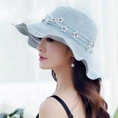 Elegance flower straw hat for women UV flouncing package sun hat