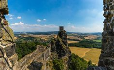 Hrad Trosky (steep climb to castle ruins) - Semily, Czech Republic Castle Ruins, Czech Republic, Climbing, Monument Valley, Trip Advisor, Bohemian, Mountains, Travel, Voyage