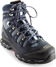 Salomon Quest 4D II GTX Hiking Boots - Women's  Backpacking and hiking boots:  Trek in comfort with these women's hiking boots. They're nimble, supportive and light like running shoes, but sturdy enough for long hauls under heavy loads.  [winter snow ready!  www.districtlight.co]