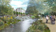 """The Building Centre Presents """"Rethinking the Urban Landscape"""",Avon River Precinct. Image © BDP"""