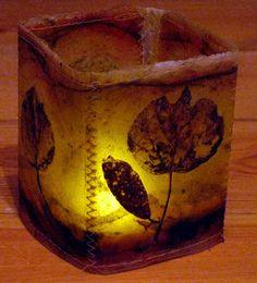 Letting in the Light: Tea Bags and Creations, Kim Henkel Tea Bag Art, Tea Art, Recycled Crafts, Diy And Crafts, Paper Crafts, Adult Crafts, Light Em Up, Light Art, Kombucha