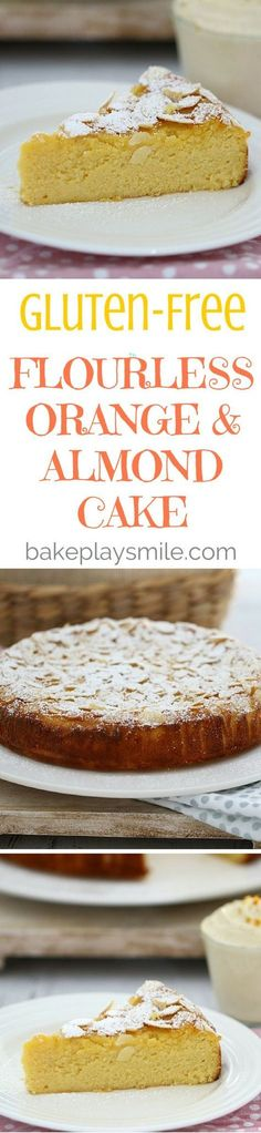 Perfectly moist and delicious, this Thermomix Gluten-Free Flourless Orange and Almond Cake ticks all the boxes. Serve with vanilla bean infused double cream for an indulgent treat. Easy Gluten Free Desserts, Gluten Free Cakes, Foods With Gluten, Gluten Free Cooking, Gluten Free Recipes, Delicious Desserts, Almond Recipes, Baking Recipes, Dessert Recipes