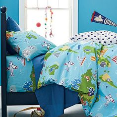 """love love love for David's room - Around the World Boys' Percale Bedding from """"Company Kids"""""""