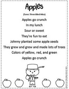 apple poem for morning meeting