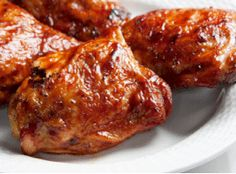Allergen-free BBQ sauce - Born to Be Wild Barbecue Sauce for Chicken Recipe from Maple Grove Farms.  I wonder if this would make a good wing sauce???    *Sub Earth Balance Soy-free for butter & Frank's & garlic powder for Tabasco (if needed)*