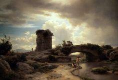 Italian Landscape - Oswald Achenbach - The Athenaeum