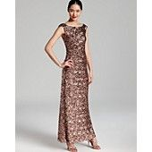 Formal OO Convention July 2013 David Meister Gown - Cap Sleeve Sequin