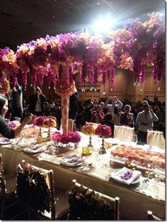 Preston Bailey Floral Canopy Roses Orchids and Hydrangea