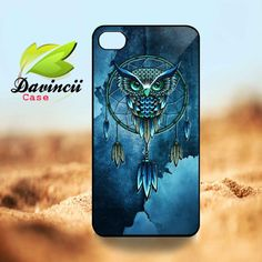 iPhone 4 / 5 Case  Owl Dream Catcher   Hard Case  by DavinciiCase, $14.99
