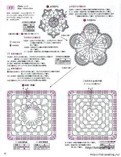 crochet home: crochet motifs Crochet Motifs, Crochet Diagram, Crochet Squares, Crochet Doilies, Crochet Flowers, Crochet Lace, Crochet Stitches, Crochet Patterns, Crochet Blouse
