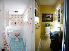 Inspirações para banheiros pequenos