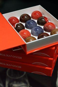 Sphères de chocolat au caramel de fruits rouges Hugo & Victor - 40 boulevard Raspail, Paris (7e arr.)