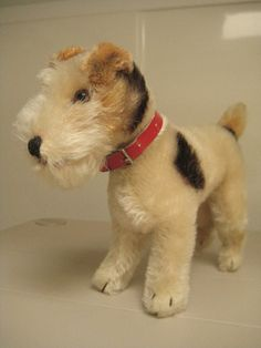 Steiff Vintage Foxy Fox Terrier Dog Over 6 Inches Tall ~ A collector favorite!! $69.99