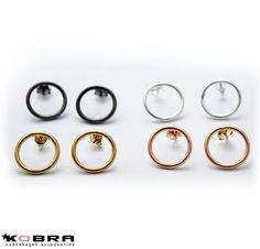 """""""Apollo"""" runde cirkelformet øreringe i 14 karat forgyldt rose guld"""