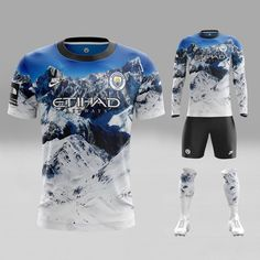 From Real Madrid to Man City, these amazing outfits are what footie teams should be wearing Sport Shirt Design, Sports Jersey Design, New T Shirt Design, Sport T Shirt, Manchester City, Manchester United, Soccer Kits, Football Kits, Chivas Wallpaper