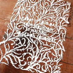 Intricate cutwork  LOVE this for weddings, so delicate and absolutely gorgeous.