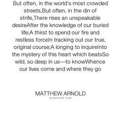 Longing poem by matthew arnold