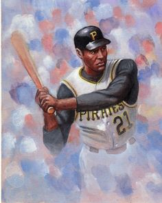 Roberto Clemente/ children's book cover art by Mahobbs on DeviantArt Baseball Painting, Sports Painting, Baseball Art, Baseball Stuff, Roberto Clemente, Pittsburgh Pirates Baseball, Pittsburgh Steelers, Puerto Rico, Rockies Baseball