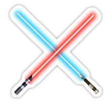 Star Wars lightsabers clashing Sticker