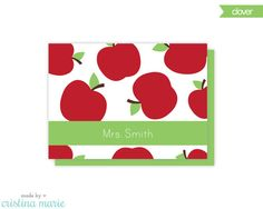 teacher note cards, set of 8 personalized cards & envelopes