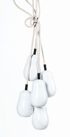 PW0186-5(white)   cucurbit calabash shape wood pendant lamp in different colors.