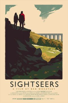 Olly Moss — Sightseers Poster for the DVD release of Ben Wheatley's Sightseers. Based on old British Railways travel posters. 10-colour screen print.