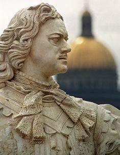 Russia Leningrad Saint Petersburg Sculpture of Peter I the Great 2009