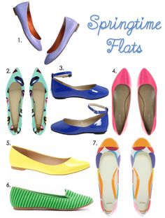 Obsessed with colored flats!