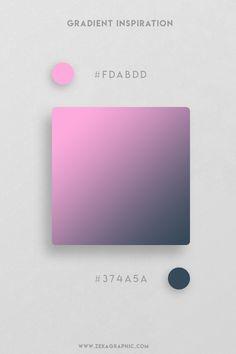 16 Beautiful Color Gradient Inspiration Part 2 Sports Graphic Design, Graphic Design Trends, Graphic Design Projects, Colour Pallete, Colour Schemes, Color Palettes, Color Palette Challenge, Web Design, Poster Art