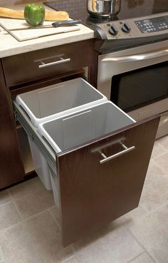 Double Waste Bin - Kitchen Craft - For all the recycling