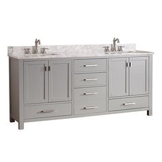 Modero Chilled Gray 72 Inch Double Vanity Only Avanity Vanities Bathroom Vanities Bathroom