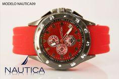 Reloj Nautica caballero rojo